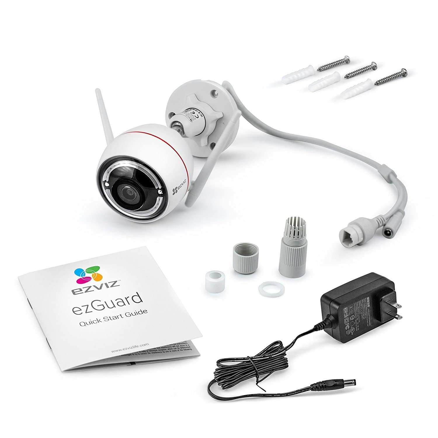 EZVIZ C3W / ezGuard 1080p - Wireless Wi-Fi Security Camera with Remote Activated Alarm System and Pre-Installed 16GB microSD Card [16GB mSD Included] $61.08