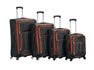 Rockland Luggage 4 Piece Impact Softside Spinner Luggage Set $125.65