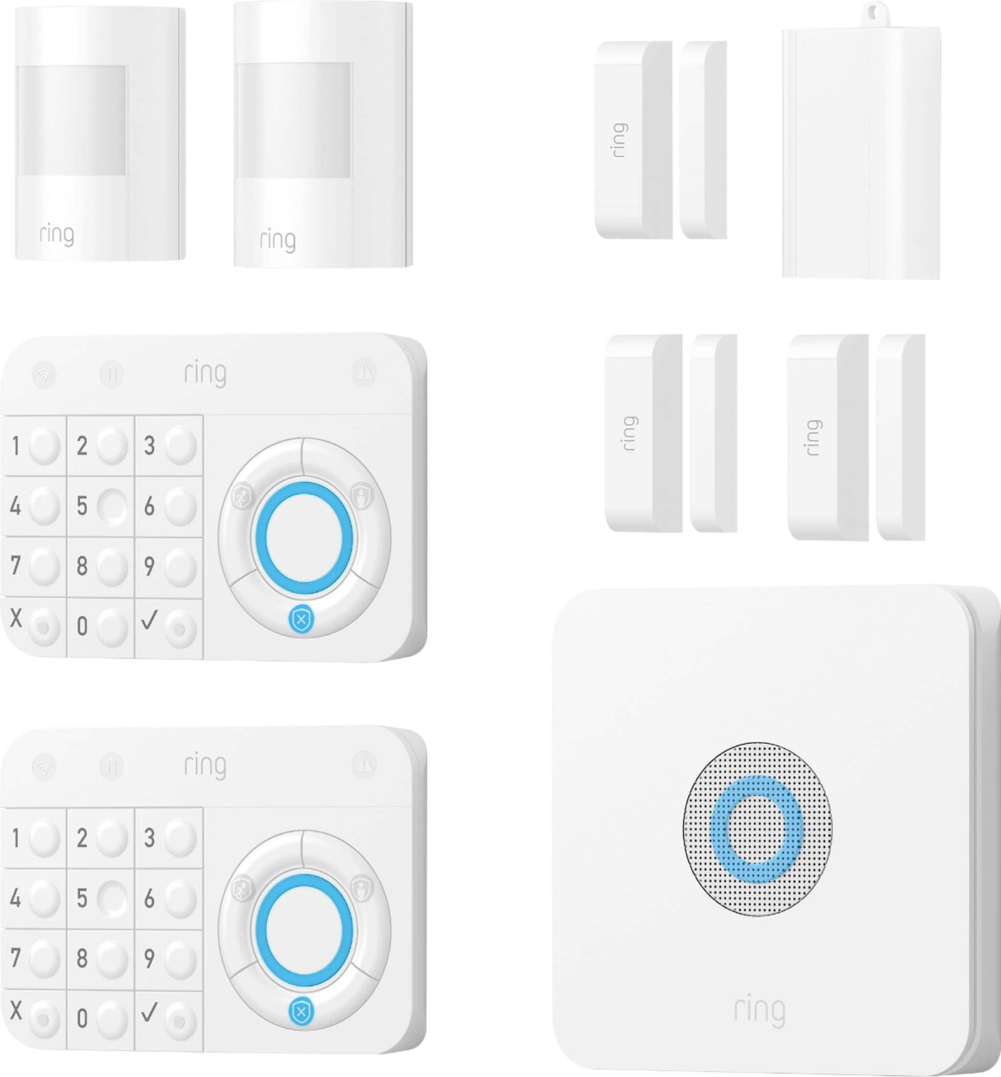 Ring Alarm Starter Home Security Kit White- Best Buy $179.99 with Free Echo Dot