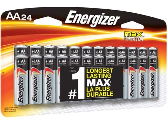 Energizer AA or AAA Triple A Max Alkaline Batteries (exp  2028) - 24