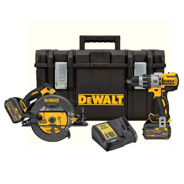 Dewalt FLEXVOLT 60-Volt Lithium-Ion Combo Kit (2-Tool) with (2) Batteries 6.0 Ah, Charger and 22 in. ToughSystem Toolbox - $280