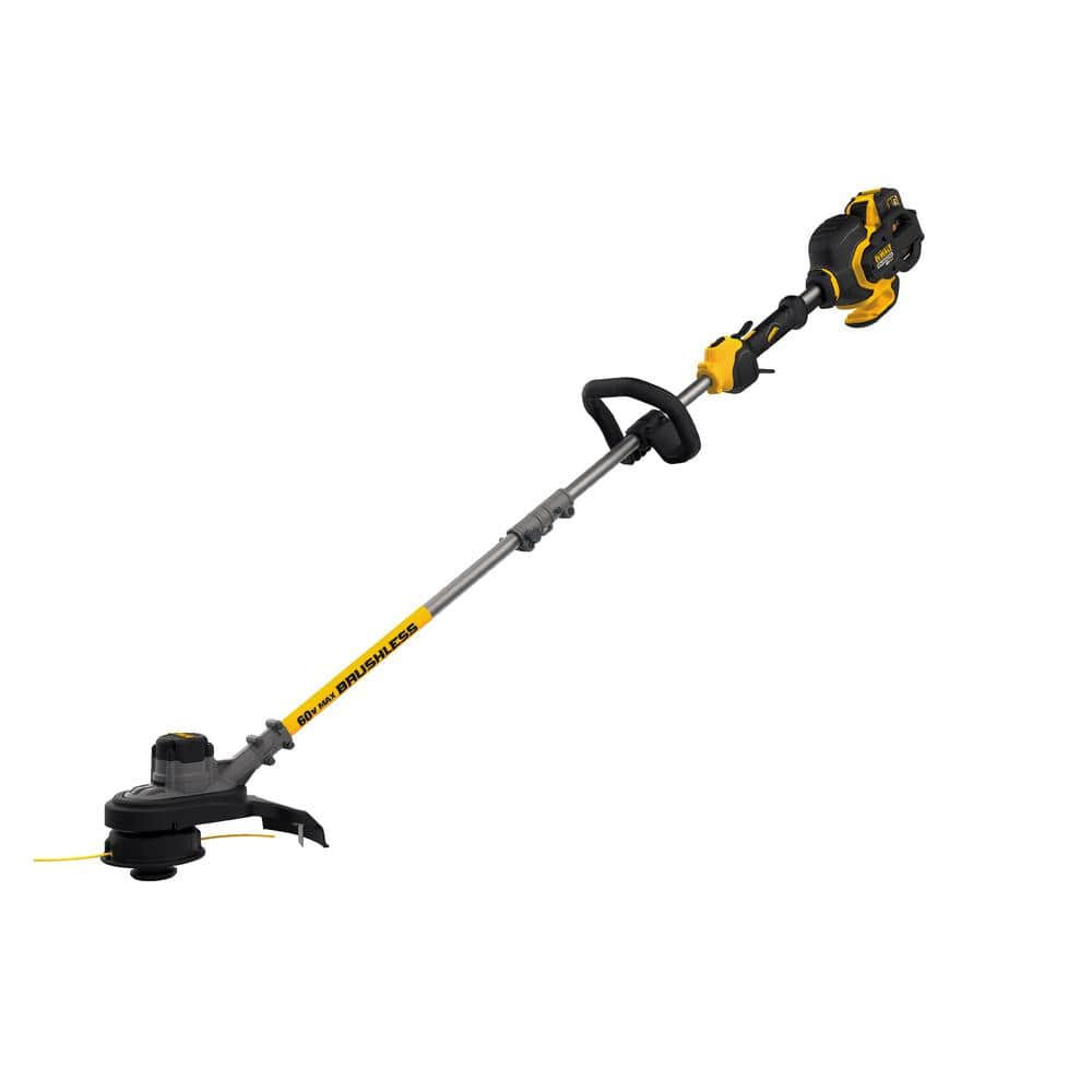DEWALT 60-Volt MAX Lithium-Ion Cordless FLEXVOLT Brushless 15 in. String Grass Trimmer w/ (1) 3.0Ah Battery and Charger - $185.06