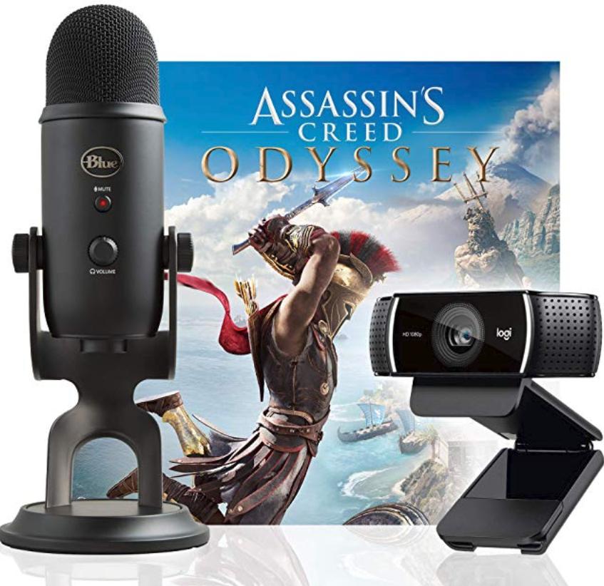 Streaming Bundle - Logitech C922x + Blue Yeti Mic + Assassin's Creed Game ($165-$182)