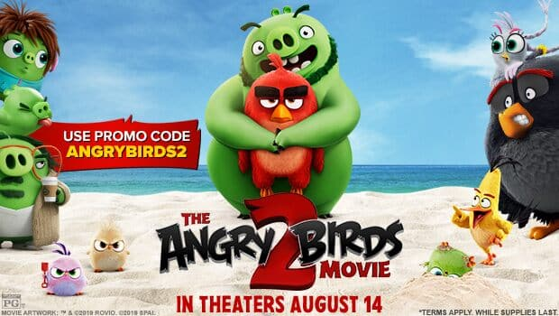 $5 off 2+ Angry Birds 2 Tickets at Fandango