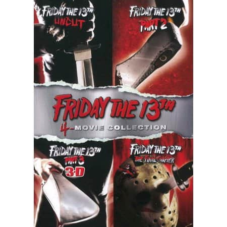 Friday the 13th 1-4 DVD + 1-8 HDX Vudu copy Bundle $9.96 @ Walmart