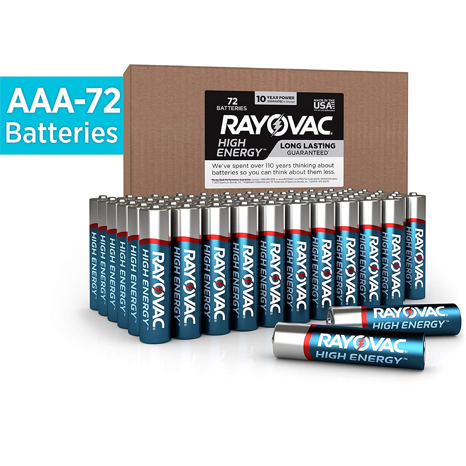 Rayovac AAA Batteries, Alkaline Triple A Batteries (72 Battery Count) $16.54 with Coupon