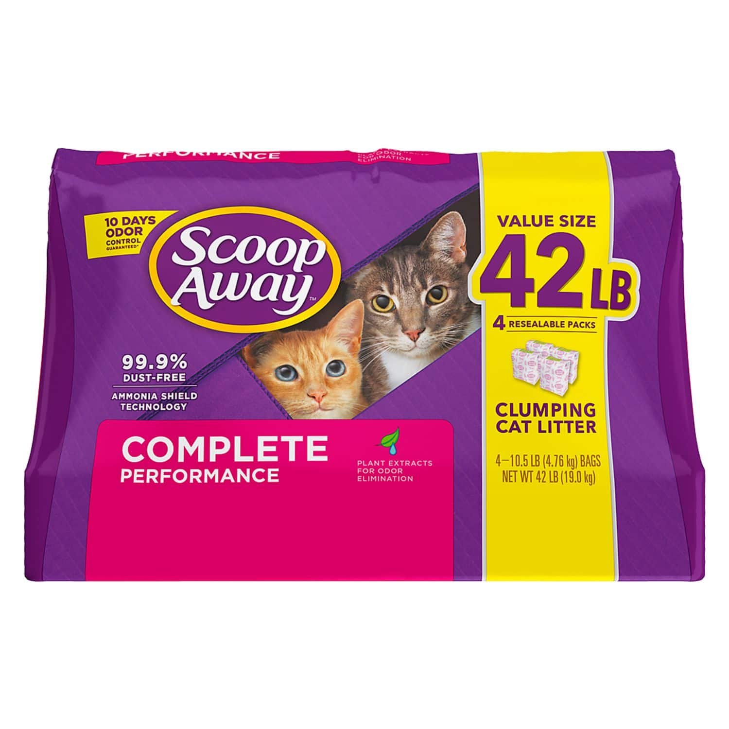 Scoop Away Complete Performance Clumping Cat Litter, 42 lbs - In Store Only - | Costco $9.69