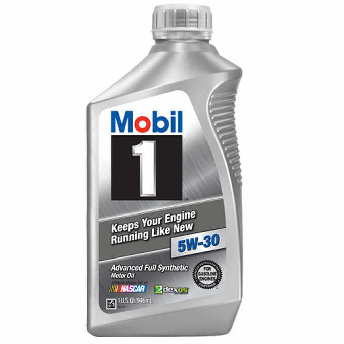 6 pack of 1 Quart Mobil 1 Full Synthetic Motor Oil 5W-30, 5W-20, 0W-40, 10W-30 $23.69