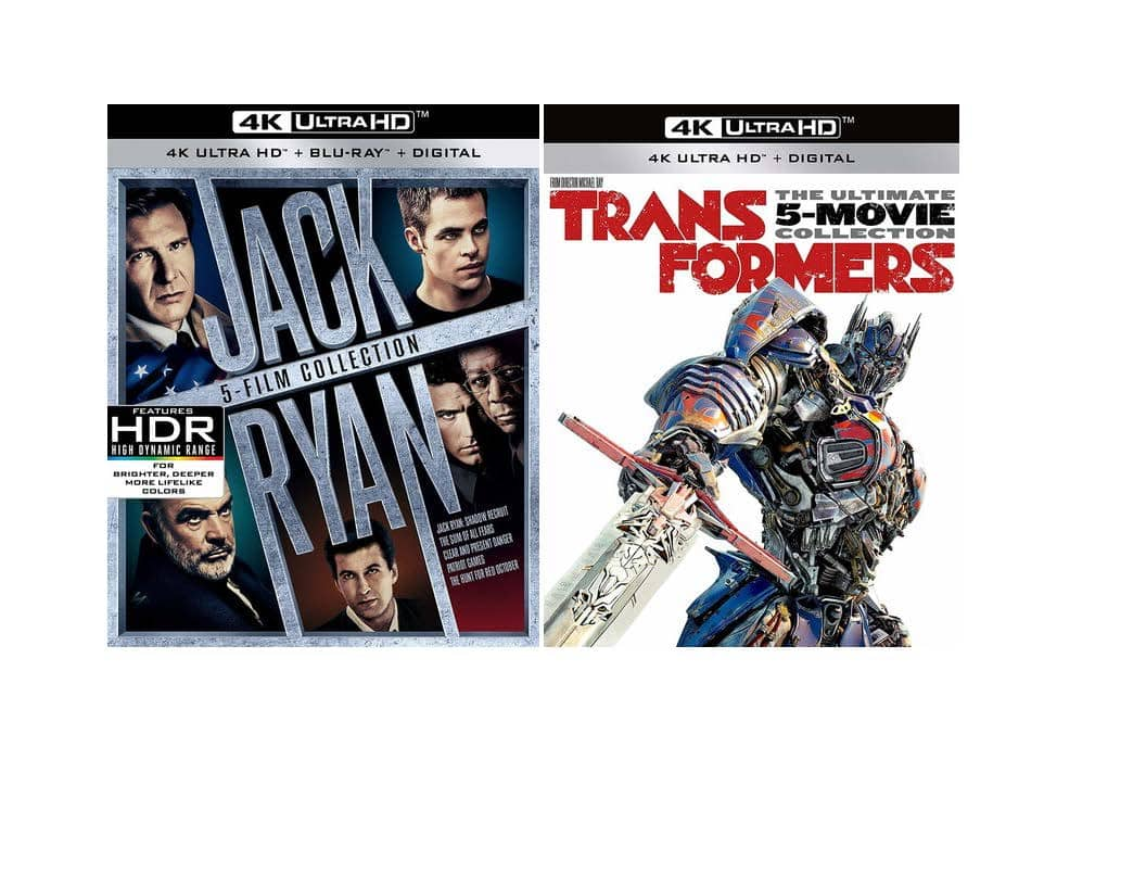 Deep Discount Paramount BOGO - Get both Jack Ryan and Transformers 4k UHD Disc Boxsets for $61.99 Total