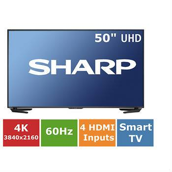 "OUT OF STOCK - Sharp Aquos 50"" 4K UHD Smart LED TV Aquomotion 120 Wi-Fi Web Browser @ BJs - $499.99 + Free Shipping"