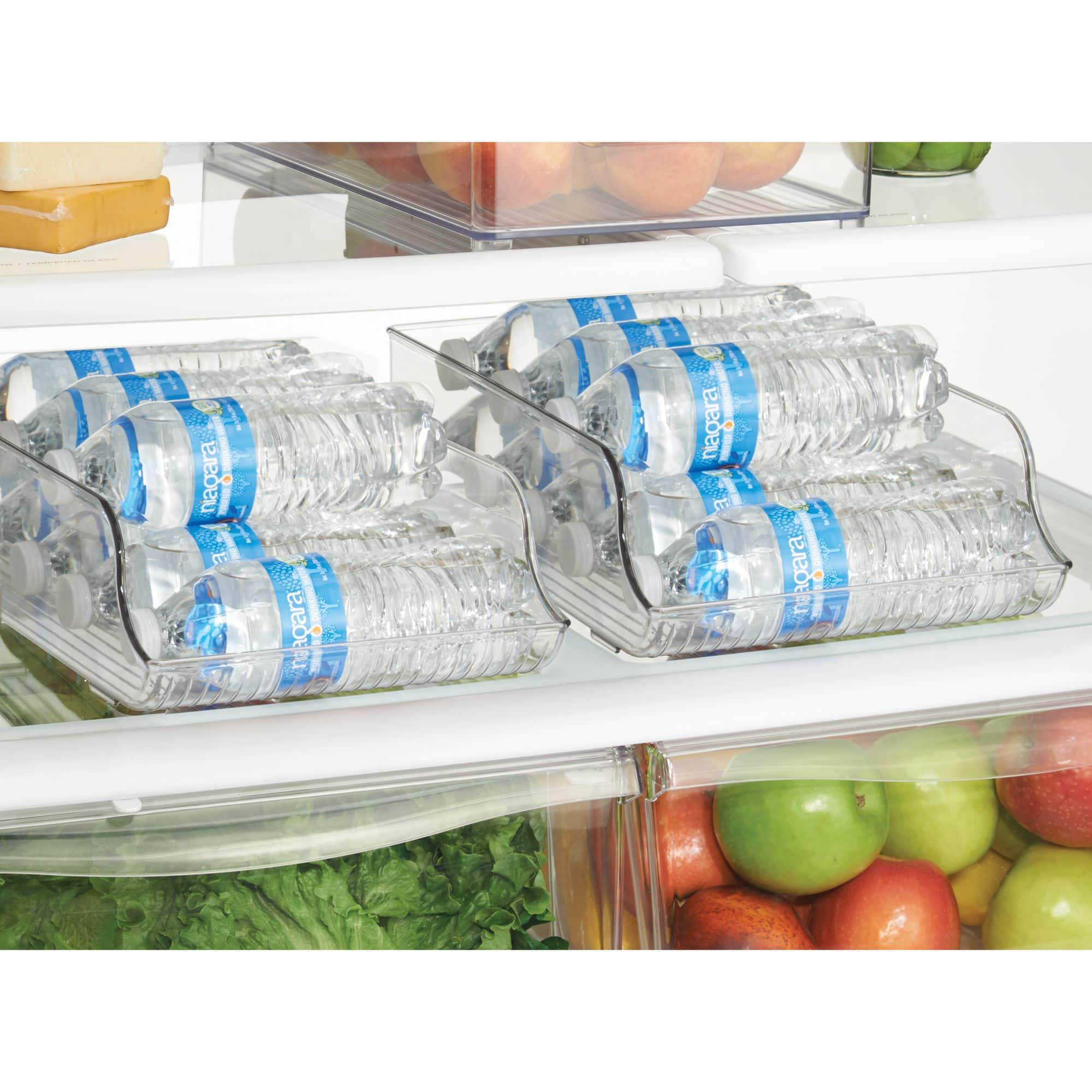 InterDesign Fridge Binz Water Bottle Holder, Clear [name: count_per_pack value: count_per_pack-1] $8.61