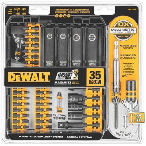 DEWALT DWA2T35IR IMPACT READY FlexTorq Screw Driving Set, 35-Piece $22.99