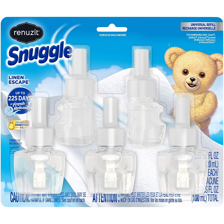 Renuzit Snuggle Scented Oil Refill for Plugin Air Fresheners, Linen Escape, 5Count [Linen Escape] $9.97