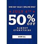 50% off most everything Men's Wearhouse.com