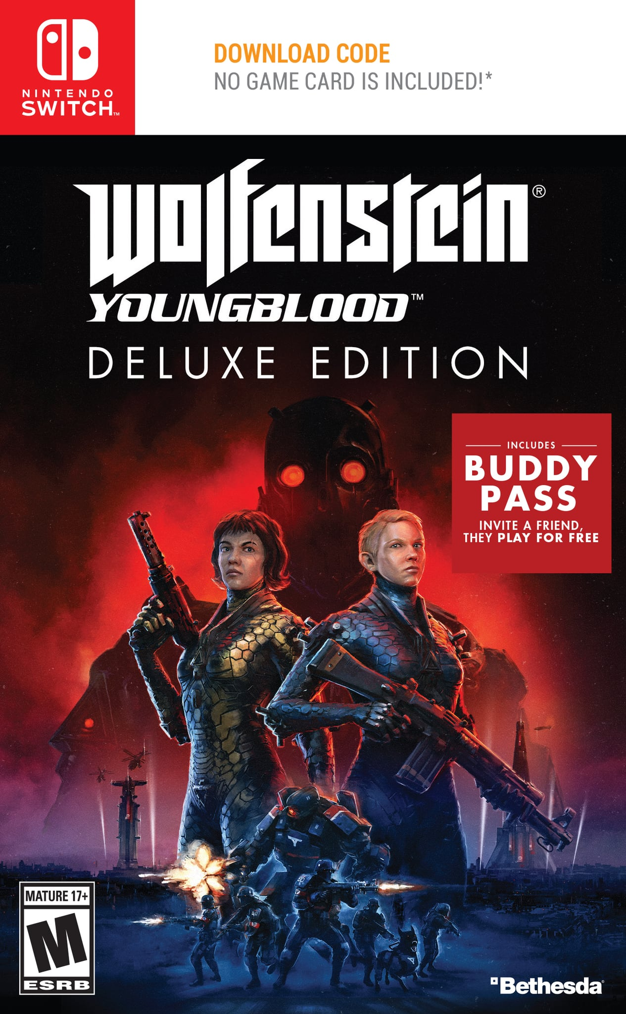 Wolfenstein Youngblood Deluxe Edition, Bethesda Softworks, Nintendo Switch, 093155174863 (Free shipment to store) $19.9