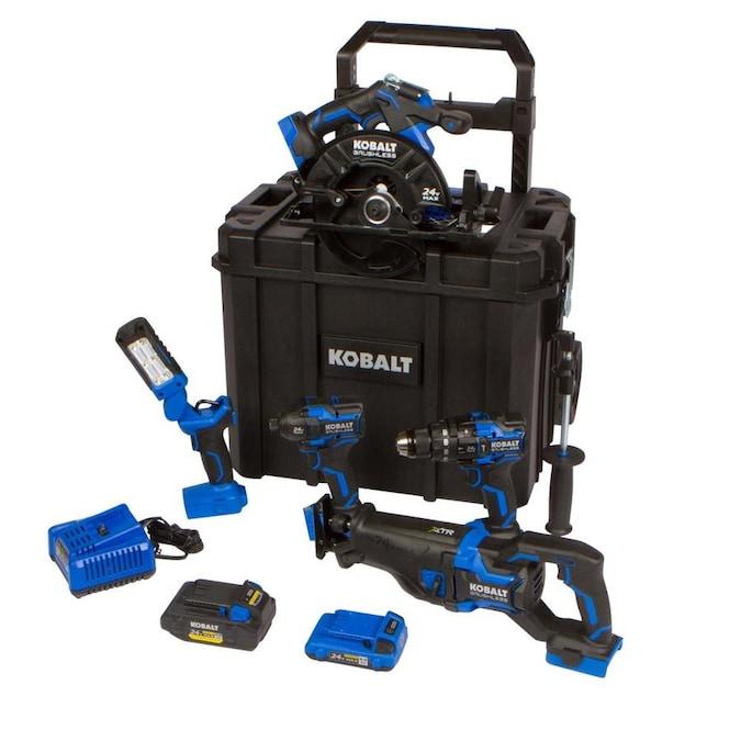 Kobalt XTR 5-Tool 24-Volt Max Brushless Power Tool Combo Kit with Hard Case $399 Plus Free Battery