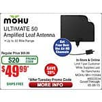 Mohu 50 Mile Range Leaf Antenna $50 After Emailed Promo Code @ Fry's In-store & Online