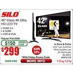 """Silo 42"""" 4k 120hz hdtv sl-42v1 $300 ac + fs"""