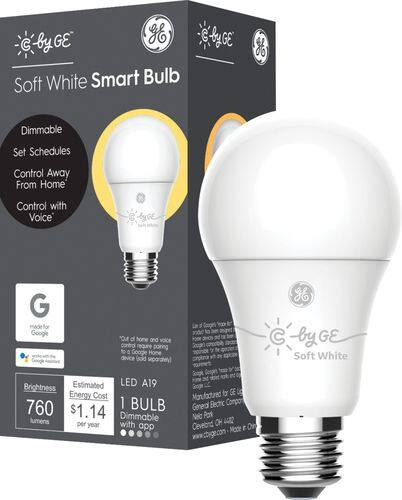 C by GE - A19 Bluetooth Smart LED Light Bulb - White 54% OFF $5.99