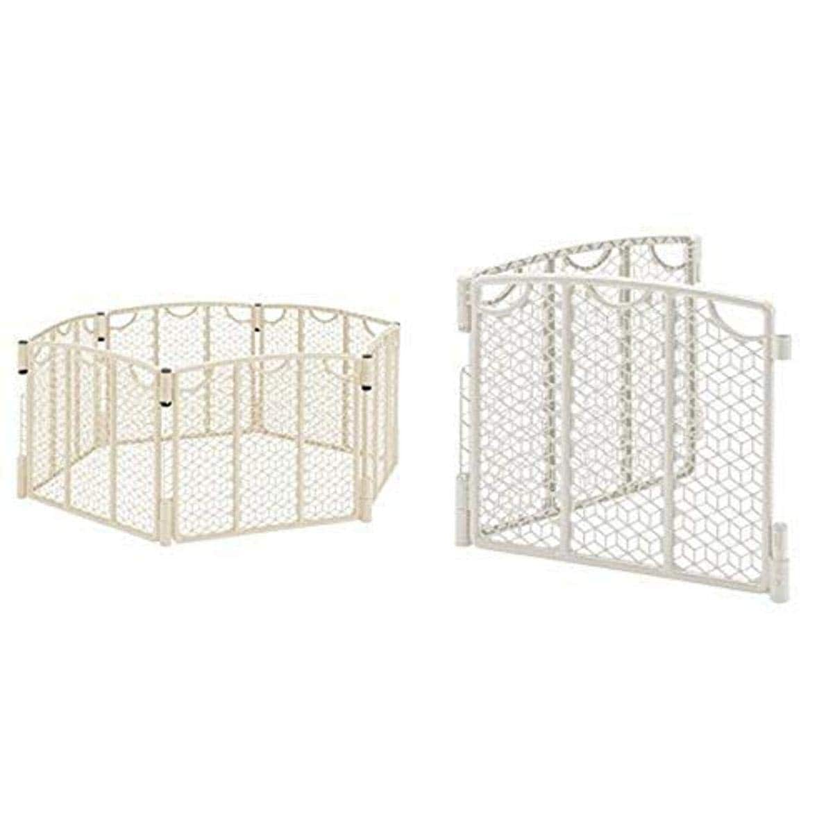Evenflo Versatile Play Space, Cream with Versatile Play Space 2-Panel Extension, Cream $60.98