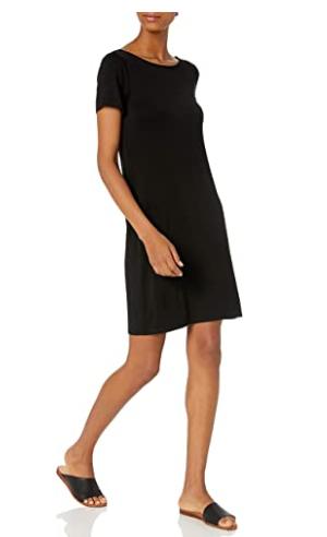 Amazon Brand - Daily Ritual Women's Jersey Ballet-Back T-Shirt Dress  for $9.99  @  Amazon