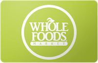 Cardcash: additional 6% off all restaurants, includes Whole Foods