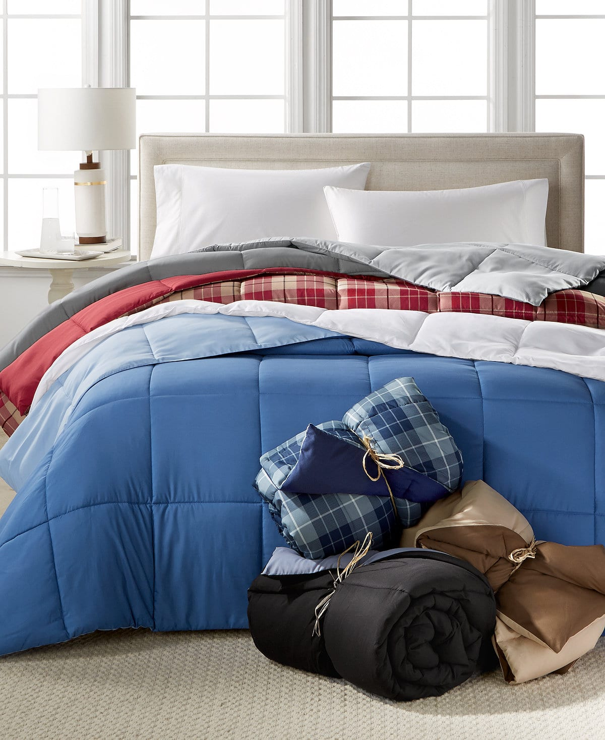 Home Design Down Alternative Hypoallergenic Comforter: Twin $21, Queen $23, King $25 + free store pickup at Macys