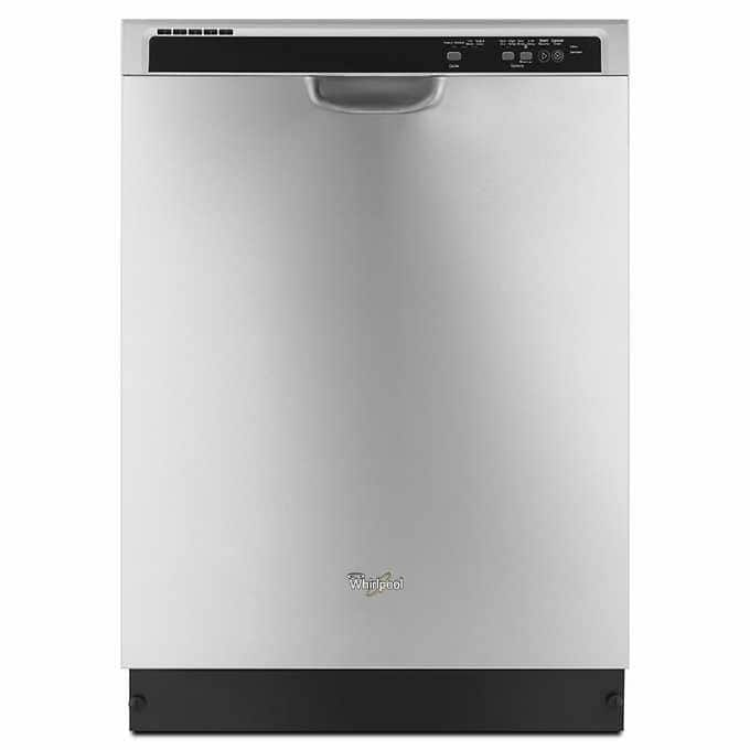 $519.99 Whirlpool Dishwasher with 1-Hour Wash Cycle in Stainless Steel Includes: in-home delivery, installation and haul away