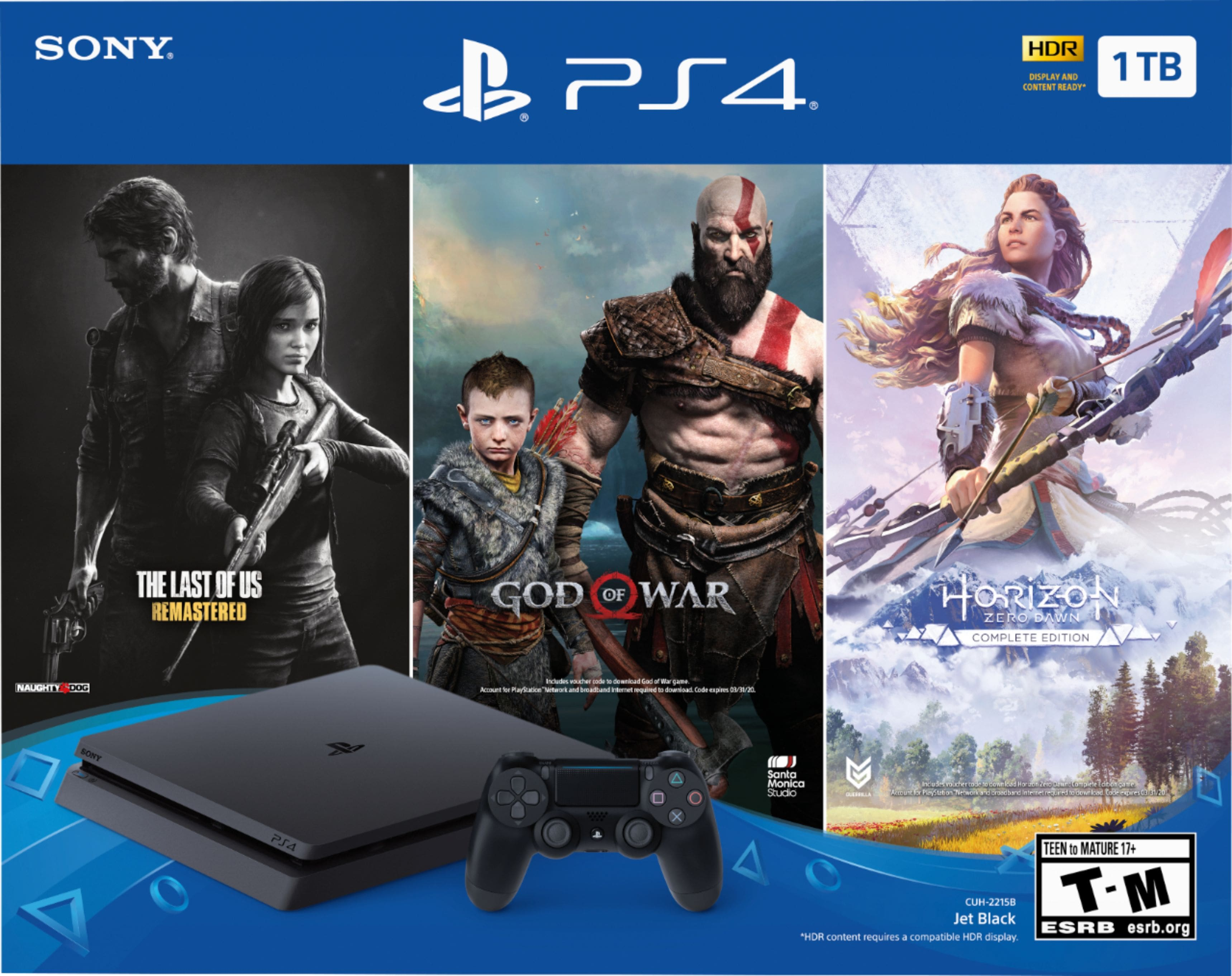 Sony - PlayStation 4 1TB Only on PlayStation Console Bundle - Jet Black $249.99