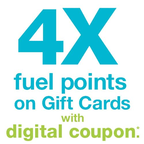 Kroger Digital coupon for 4X fuel points on Gift card & Visa/MasterCard 7/16-7/8 FRI SAT SUN