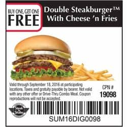 photograph regarding Steak and Shake Coupons Printable titled B1G1 no cost discount codes at Steak N Shake - Clark Offers