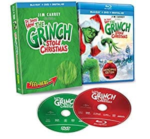 Dr. Seuss' How the Grinch Stole Christmas [Deluxe Edition Blu-ray + DVD + Digital ] [2000] - $7.99