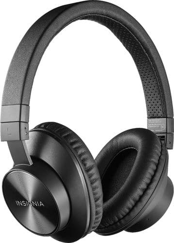 Insignia™ - Wireless Over-the-Ear Headphones - Black - 22.99+Free store pickup $22.93