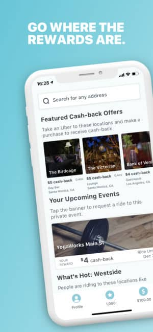 Freebird  - Points and Cashback for your Uber rides to Restaurant/Bars (BONUS weekend)