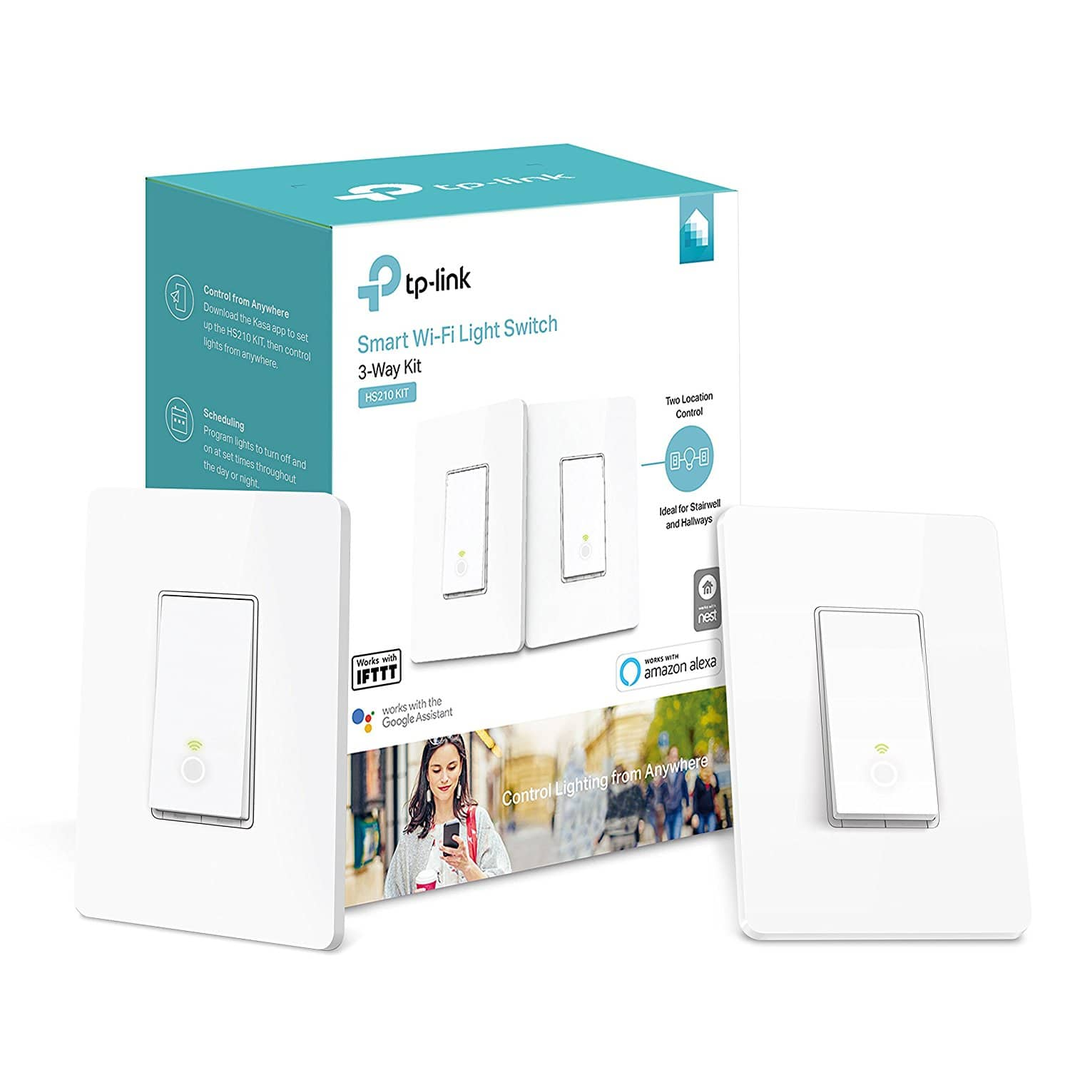 Tp Link 3 Way Wifi Smart Light Switch Easy In Wall Installation Kit Wiring A To Another Deal Image