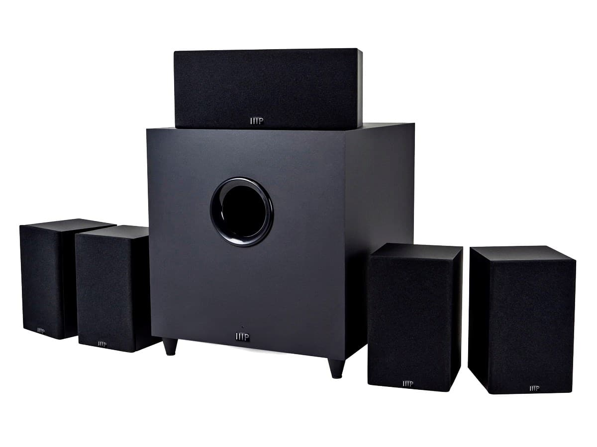 Monoprice Premium 5.1-Channel Home Theater System w/ Subwoofer $135 w/Free S&H