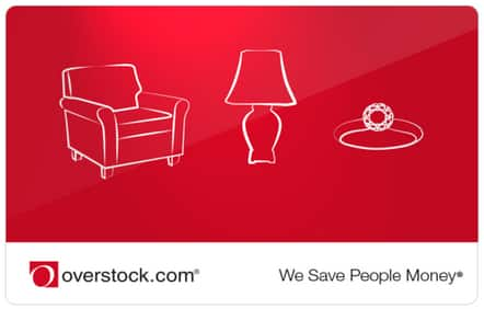 Overstock Gift Card $100 for $80