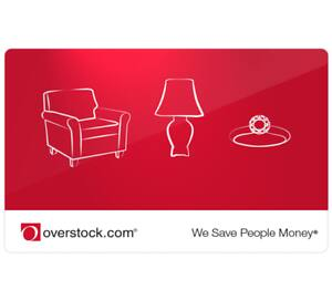 $75 Overstock Gift Card for $65 - EMAIL DELIVERY via PPDG