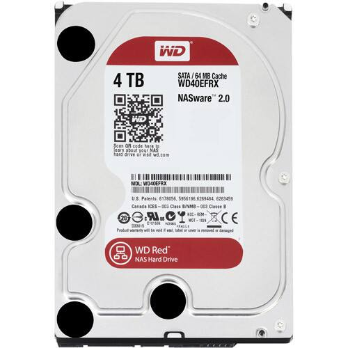 WD Red 4TB NAS Hard Disk Drive - WD40EFRX - at Amazon $125.99
