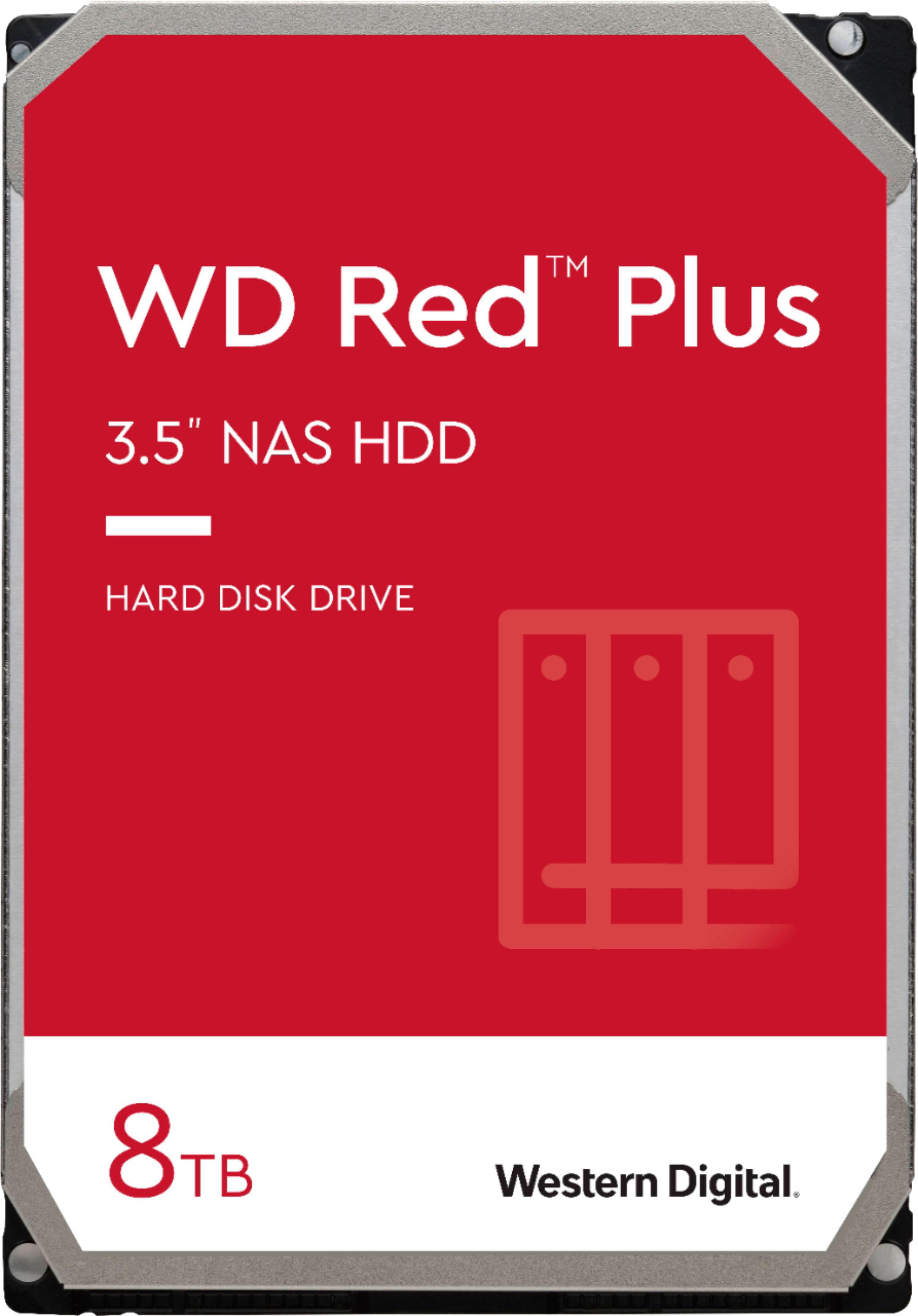 WD Red Plus 8TB Internal SATA NAS Hard Drive $187.99