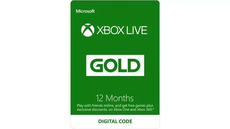 Xbox Live Gold 12 months $39.99