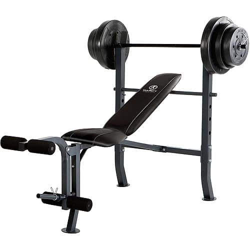 Marcy Standard Bench w/ 100 lb Weight Set Home Gym Workout Equipment $329.99 + tax shipped