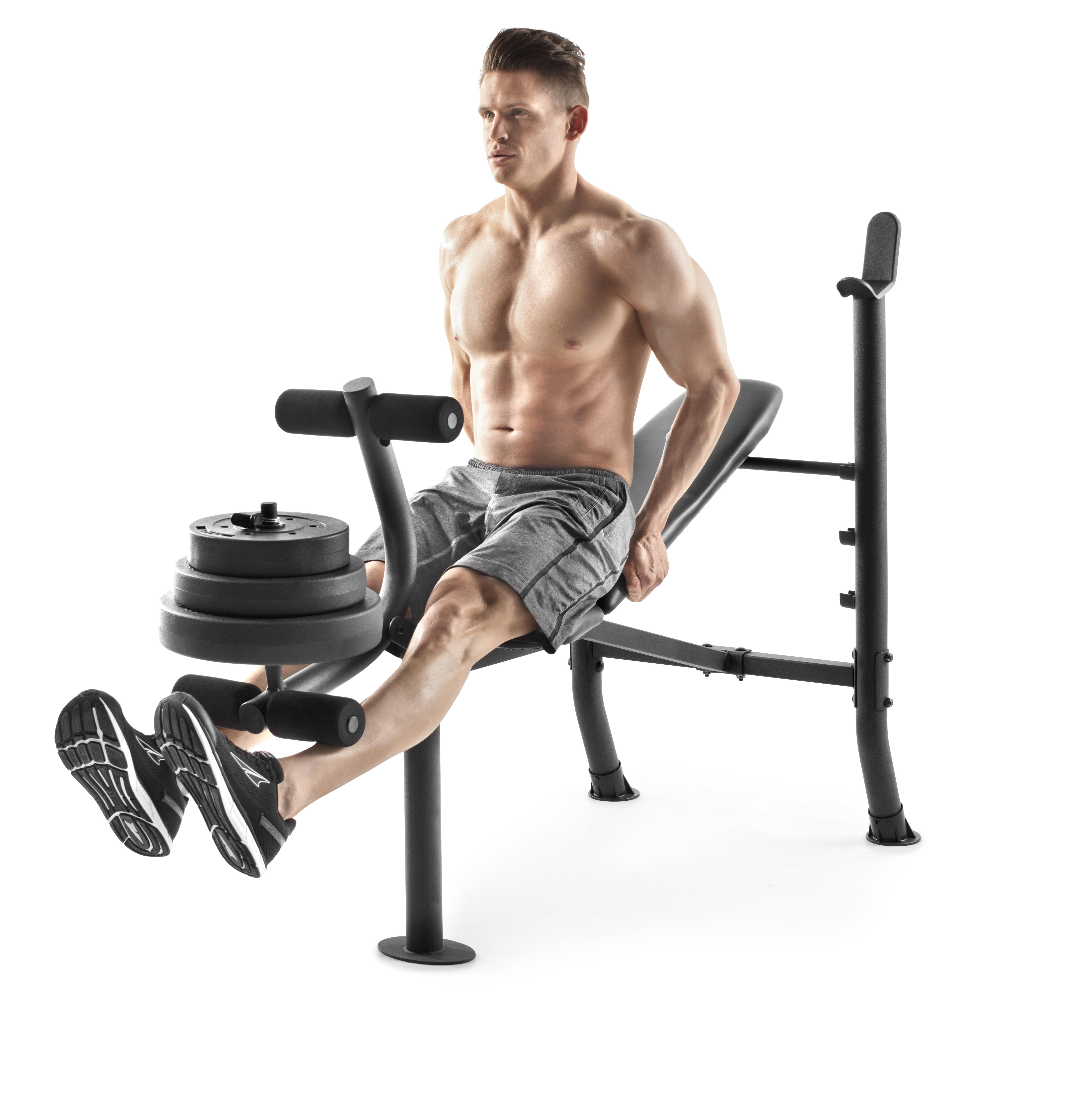 Weider XR 6.1 Adjustable Bench with 100lb Weight Set and Leg Developer $169.99 w/ FS @ WM