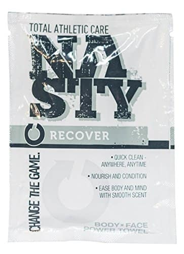 NASTY Body Wipes – Extra Large, Individually Wrapped No Rinse Sports Cleansing Towel  (5 Wipes) $0.59