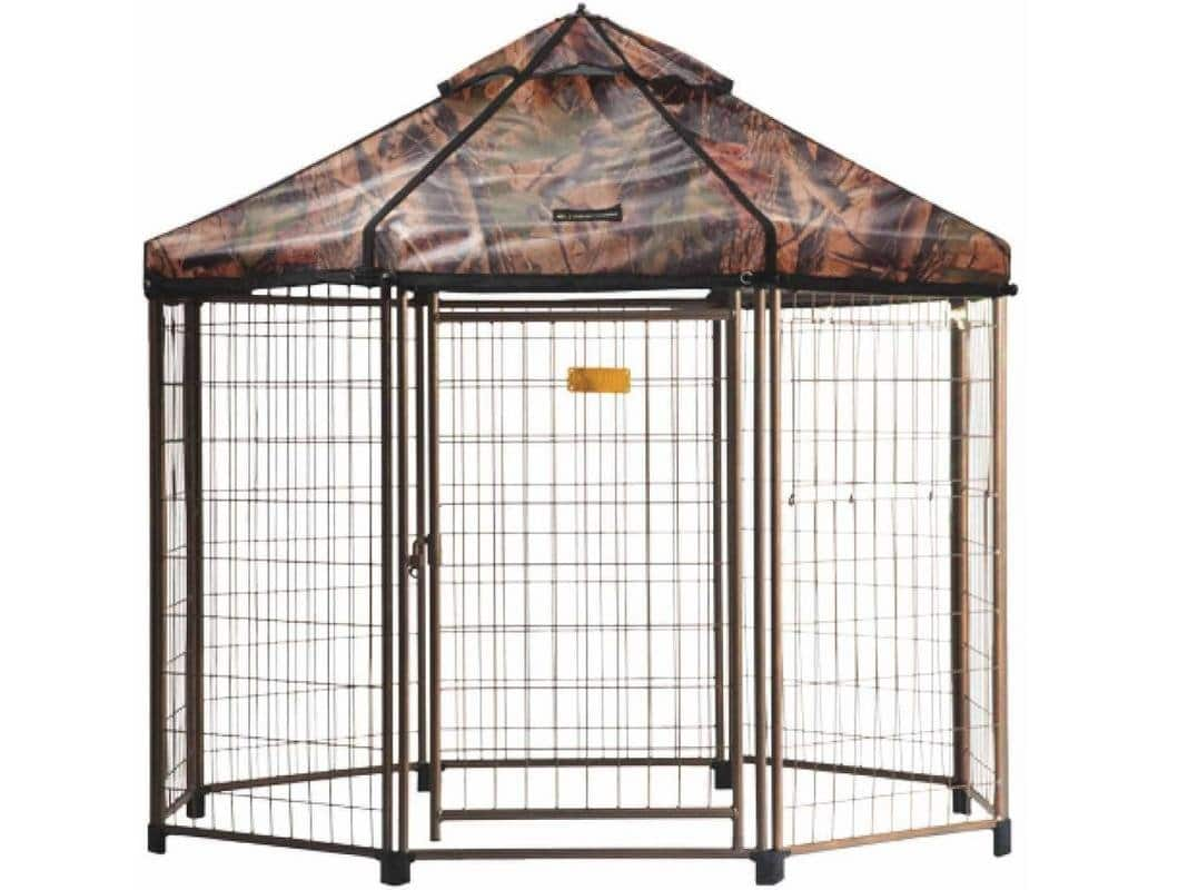Advantek Original Pet Gazebo Outdoor Dog Kennel with Reversible Cover - Camo / Forest Green (Retail 249.99) $179.99