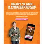 $7 in Dunkin Donuts Cards + Free Beverage for New Members Only $2 (when you enroll in DD Perks w/ Dunkin Mobile app)
