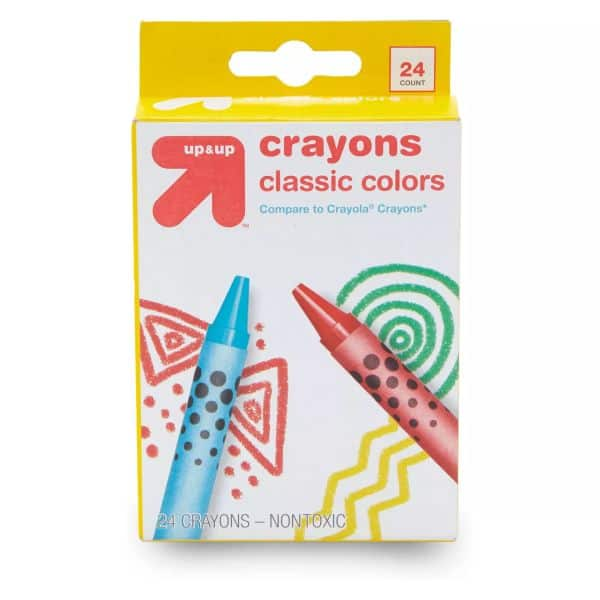 Target 24ct Crayons Classic Colors Up&Up $0.25