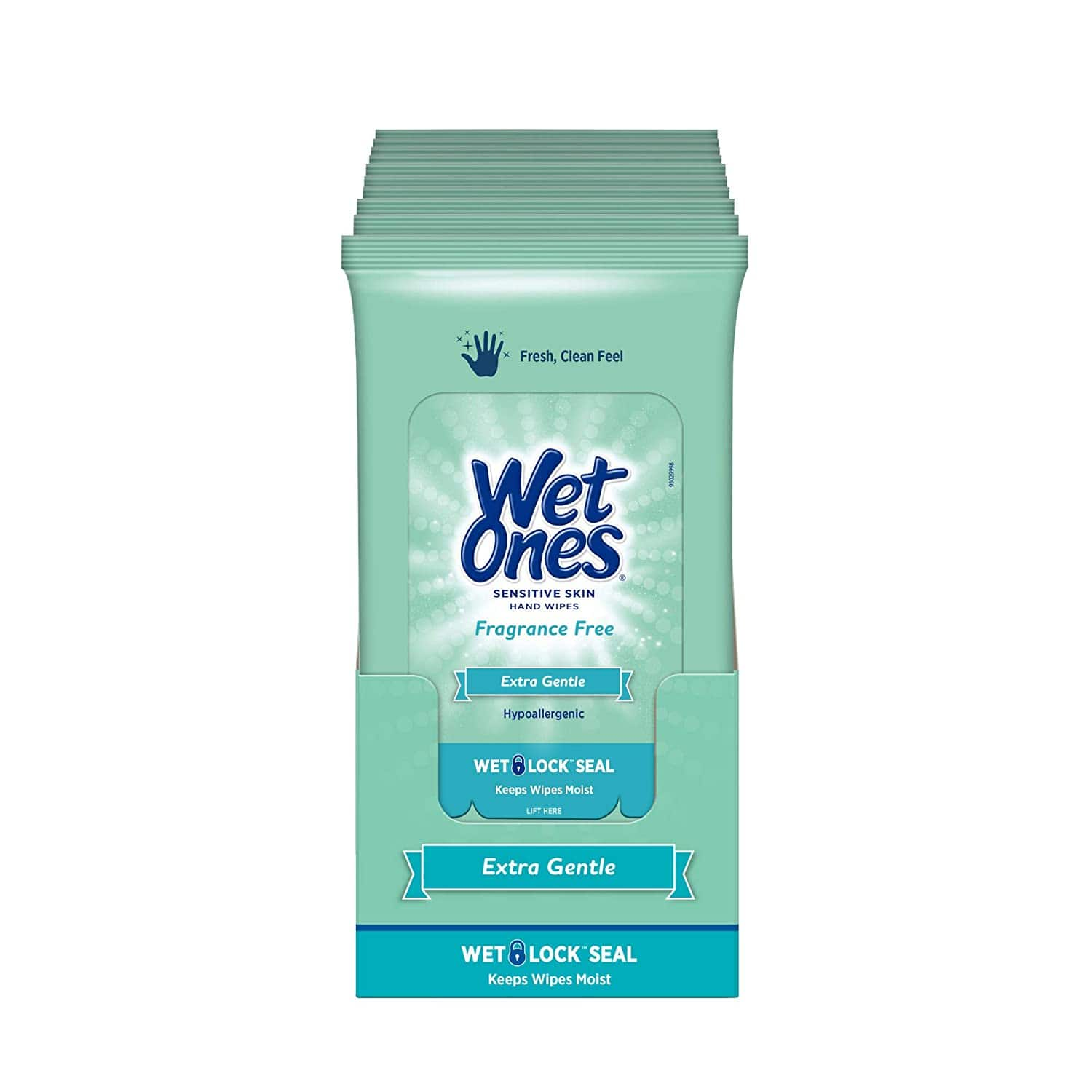 Wet Ones Sensitive Skin Hand Wipes, 20 Count (Pack Of 10) $19.52