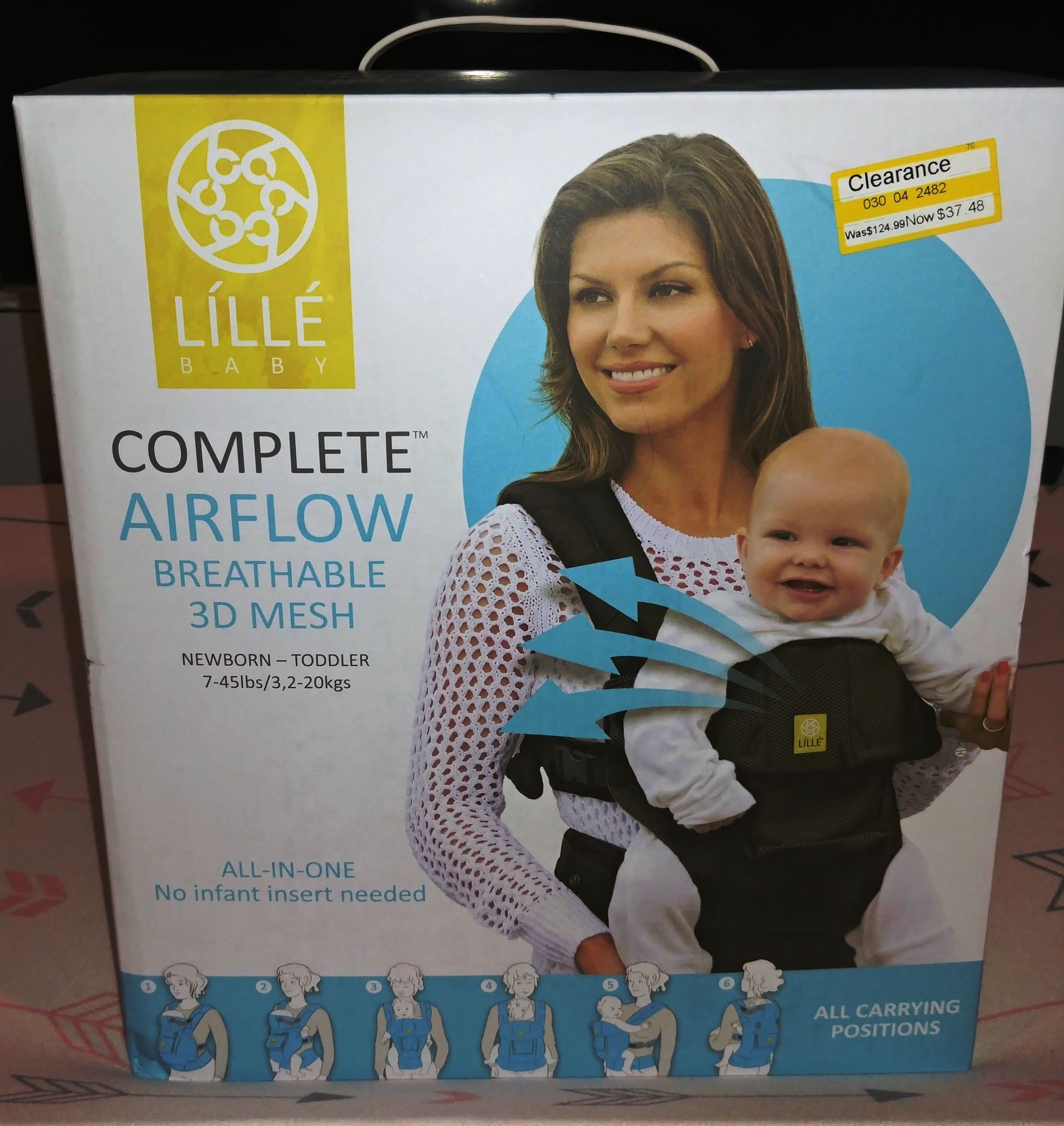LILLEbaby 6-Position COMPLETE Airflow Baby & Child Carrier - Black - $33.73 @ Target B&M Clearance YMMV