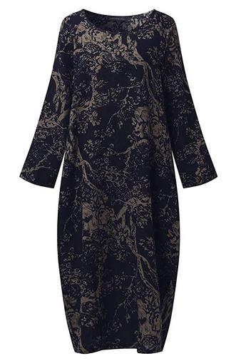 SIMSHION Womens Floral Print Maxi Dresses Plus Size Dress Kaftan Long Gown Baggy $10.19